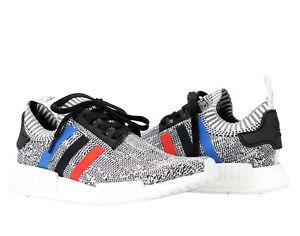1b6d35de34843 Adidas NMD R1 PK Primeknit Tri Color Grey White Men s Running Shoes ...