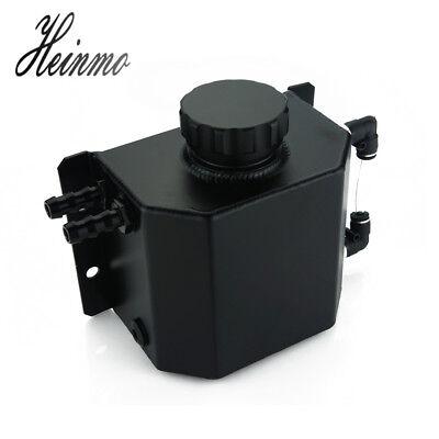Universal Car 1000ml Aluminium Oil Catch Can Tank Reservoir w// Drain Plug Silver