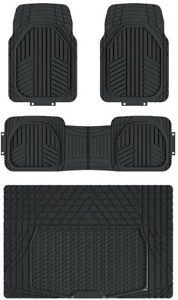 AmazonBasics 4 Piece All Season Heavy Duty Rubber Floor Mat for Car, SUV, Truck