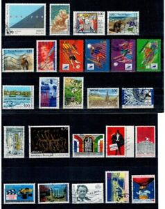 LOT-ANNEE-1996-TIMBRES-OBLITERES