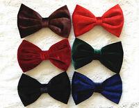 New American Apparel Style Big Velvet Bow Hair Clip