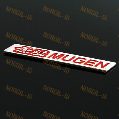 3D Car Trunk Emblem Badge Sticker Decal MUGEN for HONDA CIVIC ACURA Black