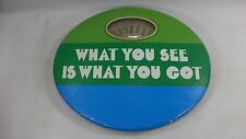 Old Vintage MCM Bathroom Scale WHAT YOU SEE IS WHAT YOU GOT Novelty Green Retro