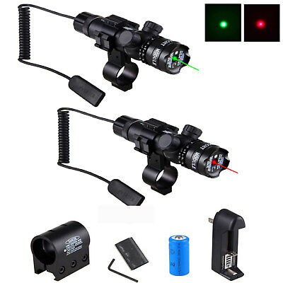 Green//RED LED Tactical Laser Dot Scope Sight Remote Switch Picatinny Rail Mount