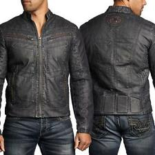NEW Men's Affliction Black Premium Two Pistons Biker Jacket Black Size 2XL