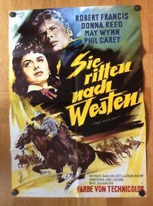 Sie-ritten-nach-Westen-Kinoplakat-60-Robert-Francis-Donna-Reed
