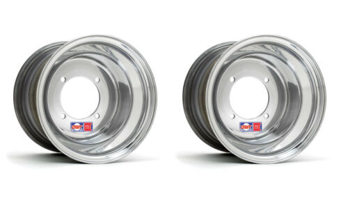 "DWT .190 Polished Rear Wheels Rims PAIR 9/"" 9x8 Suzuzki LT500 LT250 500 250 500R"