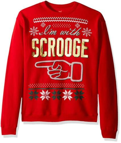 Details about  /Hanes Men/'s Ugly Christmas I/'m With Scrooge Holiday Sweatshirt