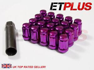 20-x-Purple-Spline-Wheel-Nuts-M12x1-25-Fits-Subaru-Impreza-Blobeye-Bugeye-P1
