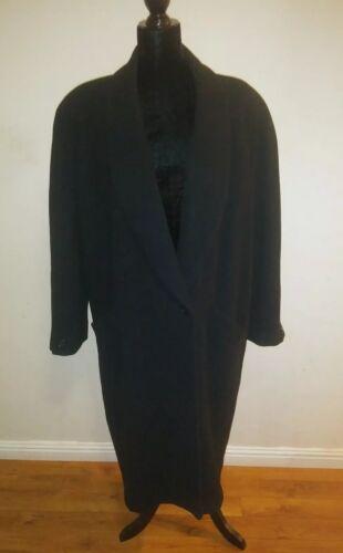 Vintage Black Scene Uld Ladies Frakke Størrelse International Rn25585 16 Long rI6rU