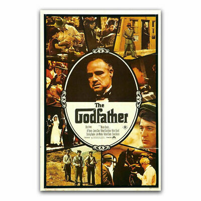 Silk Poster The Godfather Classic Film Movie Vintage Retro Character B-713