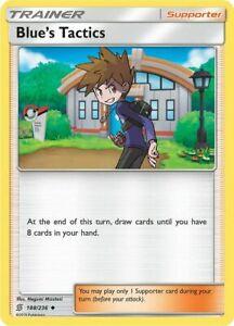 4X-Blue-039-s-Tactics-188-236-S-amp-M-Unified-Minds-Uncommon-PERFECT-MINT-Pokemon