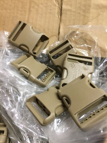 25 Tan Plastic Strong Buckles By Warrior 1 1//2 Inch Strong