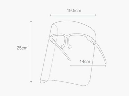1 PC Safety Full Face Shield Medical Mask Frame Washable Cover Protection Guard