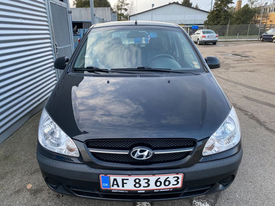 Hyundai Getz 1,4 GL Benzin modelår 2007 km 132000 Sortmetal