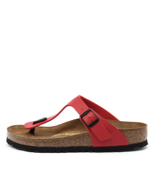 7aab23a44b4 Birkenstock Gizeh Cherry Birko-flor Womens Leather Sandals 7 UK 40 ...