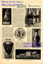 Neues Rosenthal Porzellan 1921 1 XL Seite Bericht & 6 Abb. Weihnachtsteller +