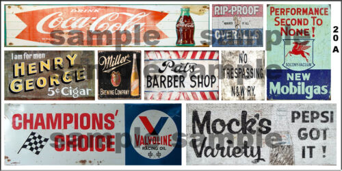 HO SCALE WEATHERED BUILDING GHOST SIGN DECALS #20a
