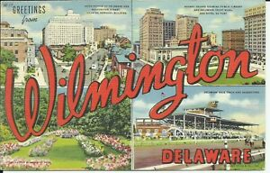 Greetings-From-Wilmington-New-Castle-County-Delaware-1946-Large-Letter-Postcard