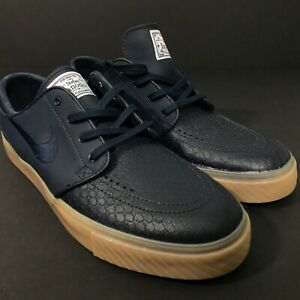 Nike-SB-Stefan-Janoski-Leather-Navy-Blue-Size-10-616490-441-NEW