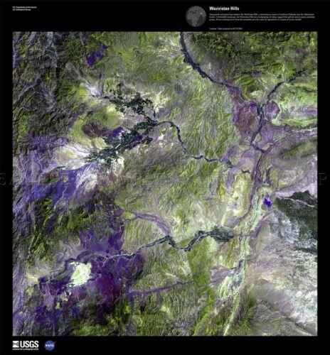 SCIENCE MAP SATELLITE PAKISTAN WAZIRISTAN MOUNTAIN REPLICA POSTER PRINT PAM1573