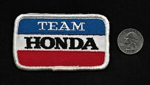 Vintage 60s-70s TEAM HONDA Automobile Car Vehicle Advertising Collectors Patch