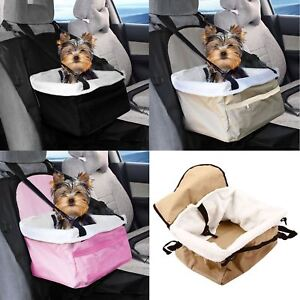 Image Is Loading Pet Car Carrier Bed With Safety Belt For