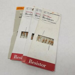 100-Ohm 1//4 Watt 330-Ohm 5/% Tolerance Pack of 5 RadioShack Resistors 10-Ohm