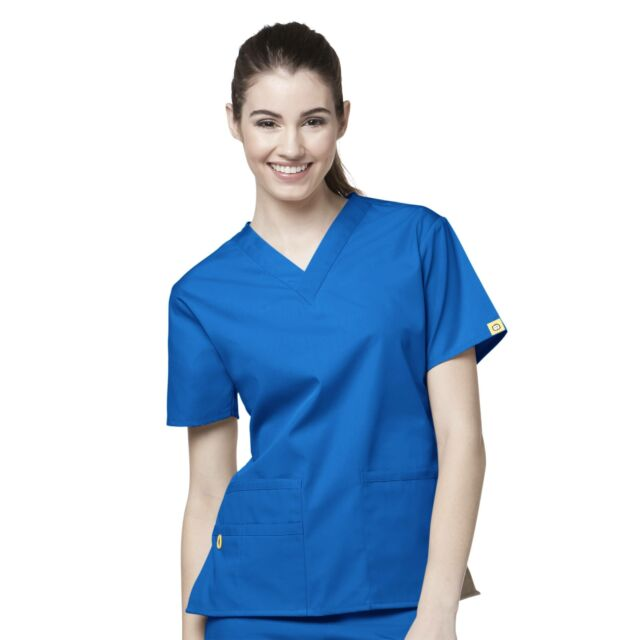 WonderWink Nurses Origins Bravo Scrub Women/'s V-Neck Top 6016 Wonder Wink ~NEW~