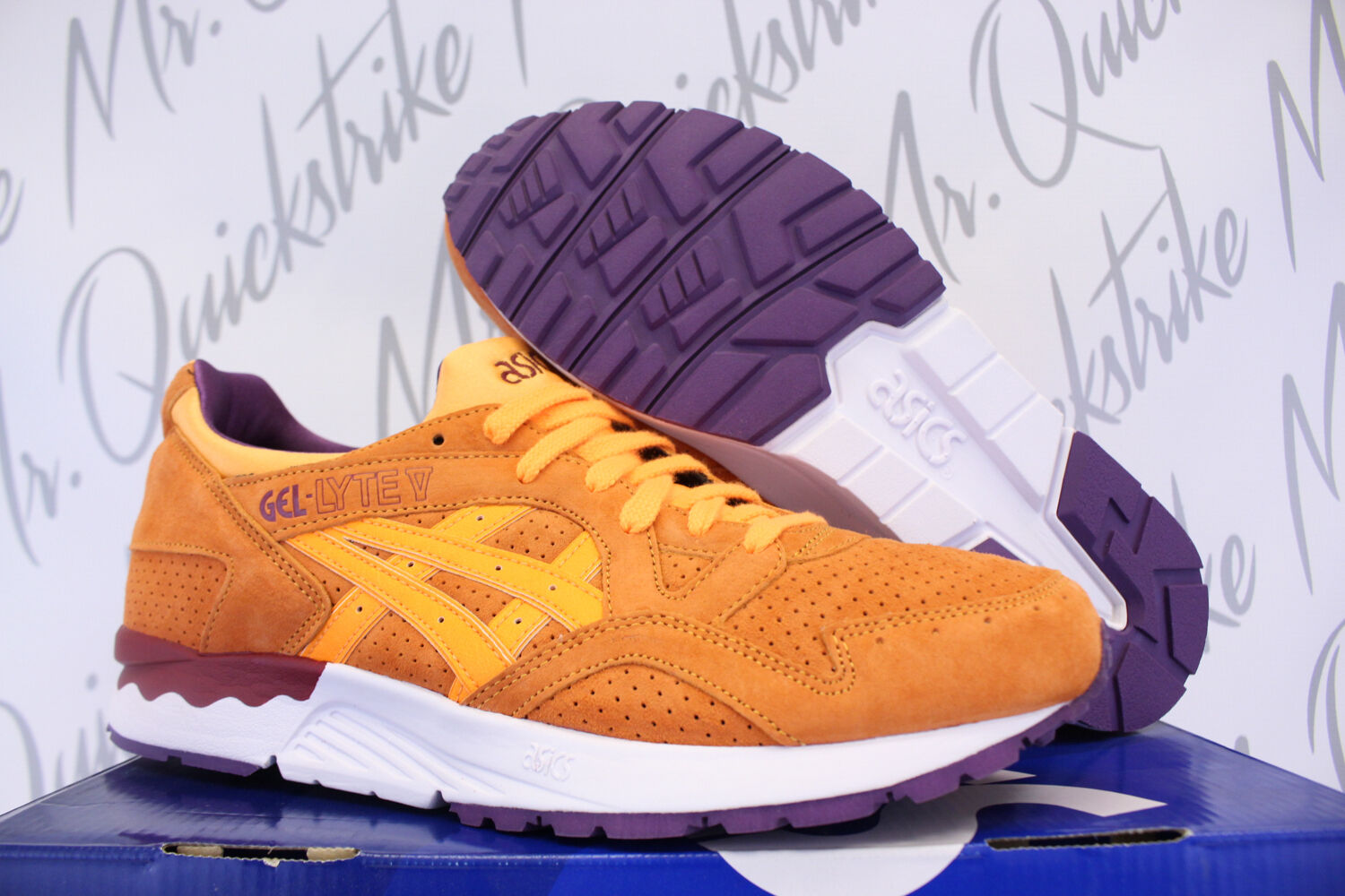 ASICS GEL LYTE V SZ 9 ORANGE POP PURPLE BURGUNDY WHITE H5D2L 3030