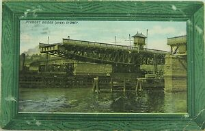 RARE-SYDNEY-PYRMONT-BRIDGE-1906-POSTCARD-NEW-SOUTH-WALES