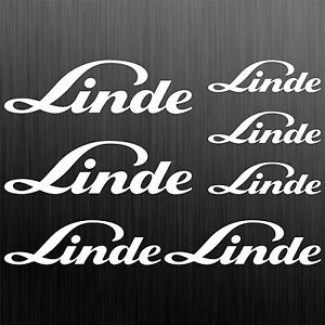 Linde-aufkleber-sticker-gabelstapler-forklift-7-Stucke-Pieces