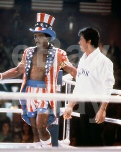 Rocky-IV-1985-Carl-Weathers-Sylvester-Stallone-10x8-Photo