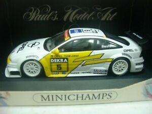 Wow extrêmement rare Opel Calibra V6 1994 Reuter Dtm Singen 1:43 Minichamps / gt / itc 4012138070820