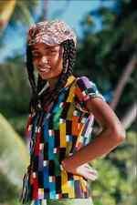 690033 Girl From Mahe Island Seychelles A4 Photo Print
