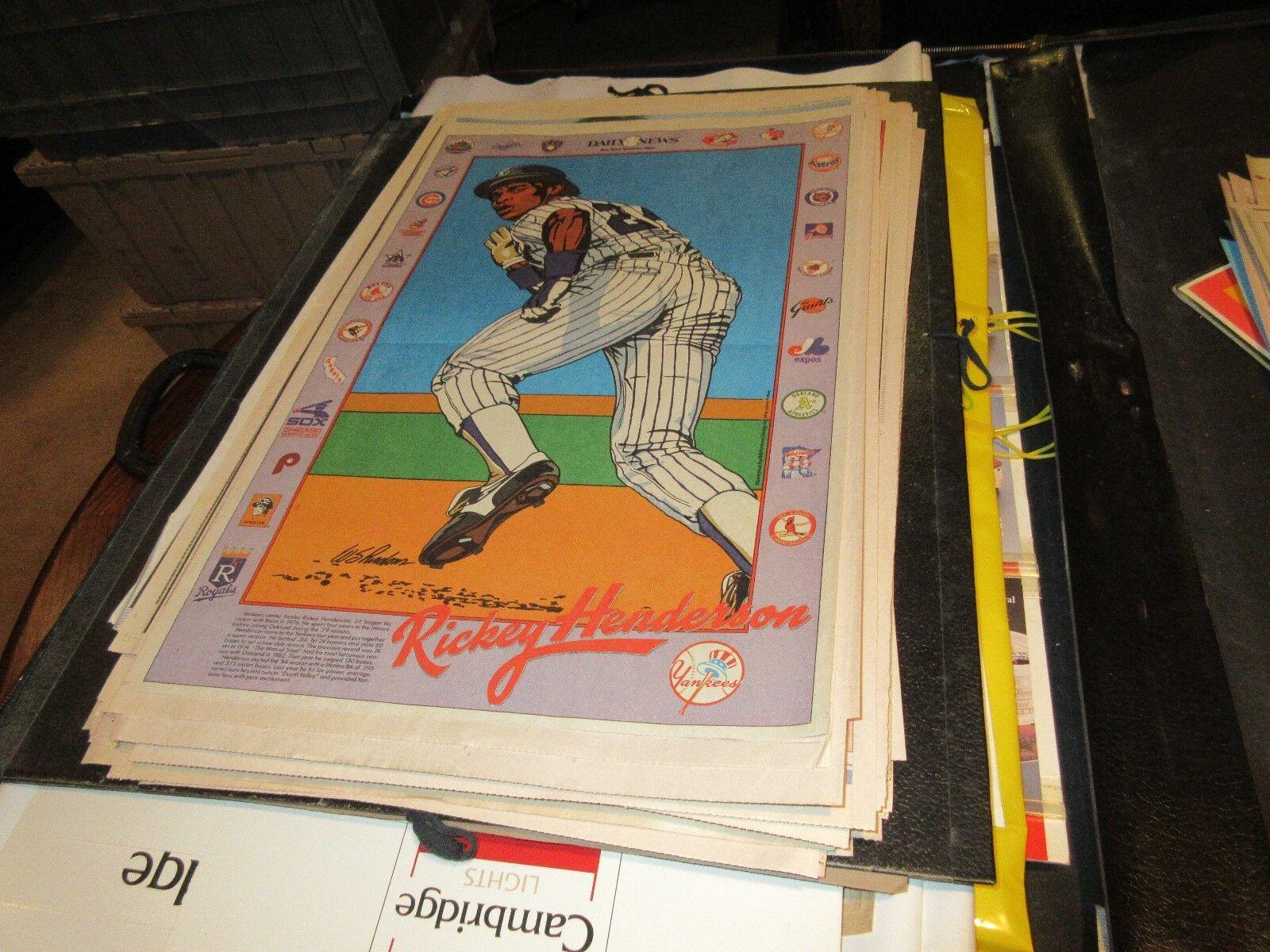 Ricky Henderson , NY Yankees , NY Daily News ,Newspaper