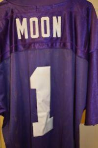 Warren Moon  1 Vikings Mitchell and Ness Throwbacks 1993 NFL Jersey ... 96f018dbc