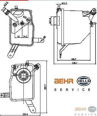 Coolant Expansion Tank BMW E60 E63 E64 BEHR Manufactured 17137542986