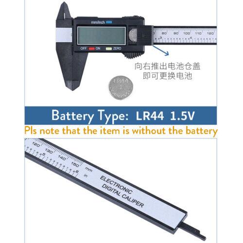 150mm LCD Digital Electronic Carbon Fiber Vernier Caliper Gauge Micrometer Scale