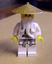 Lego Ninjago - Ninja - Sensei Wu Figur weiss white Meister - goldener Hut Neu