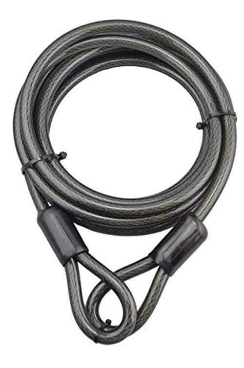 BIGLUFU Bike Security Steel Cable 4FT//7FT with or Without U Lock U Lock Braided Steel Flex Lock Cable 12mm Thick Heavy Duty Vinyl Coated Flexible Steel Cable with Loop End
