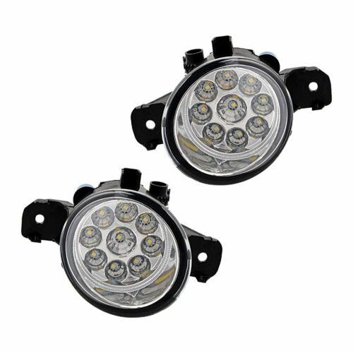 2x 9 LED Driver Passenger Side E1 DOT Fog Light PC Lens For Nissan Infiniti M35