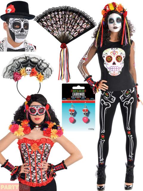 1 x Halloween Day Of The Dead Eyemask Ladies Sugar Skull Fancy Dress Eye Mask