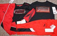 New! Boys Puma 4 pc Lot/2 Outfits (Mix & Match; 2 Shirts + 2 Pants) - Size 2T