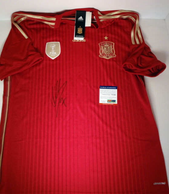 DAVID VILLA SPAIN 2010 WORLD CUP CHAMP NYCFC SIGNED AUTOGRAPH JERSEY PSA/DNA COA