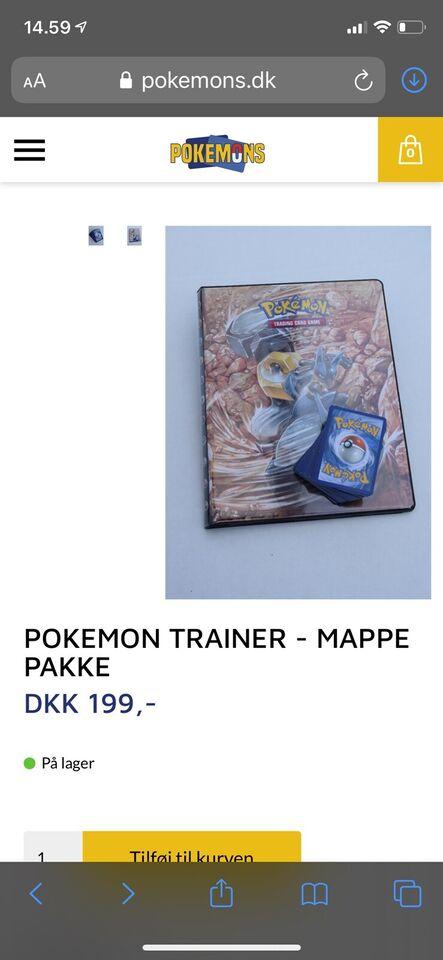 Ny mappe og 100 forskellige pokemon kort