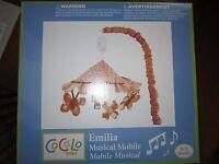 Cocalo Baby Girl Nursery Decor Crib Musical Mobile Emilia Butterfly Flower