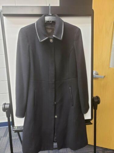 Coach Wool Coat Black With Signature Size Medium W