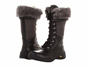 UGG Australia Black Tall Leather Boots
