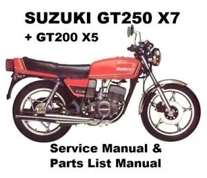 suzuki gt250 x7 250 owners workshop service repair parts manual pdf rh ebay com au Suzuki T250 Suzuki GT250 Oil
